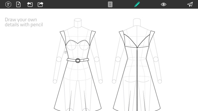 How To Sketch Clothing Designs | Fashion Design Flatsketch On The App Store
