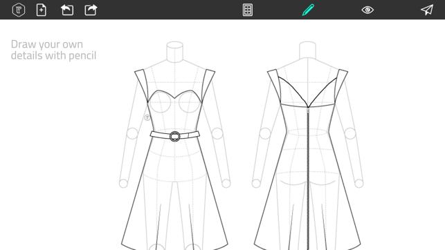 Fashion Design Flatsketch On The App Store