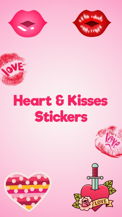 Heart and Kiss Stickers