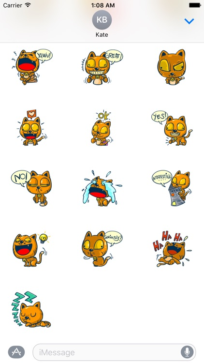 Dooral the silly cat - Stickers for iMessage