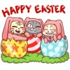 Cats Celebrate Easter Stickers