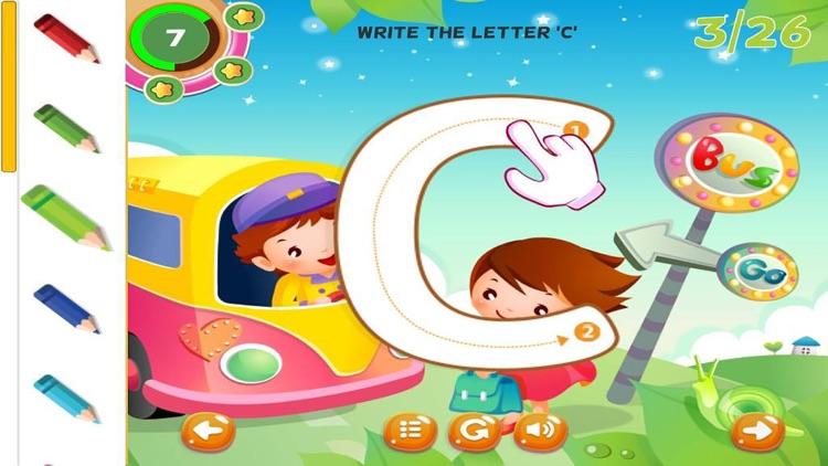 ABC Tracing Letters Cursive Handwriting Practice screenshot-3