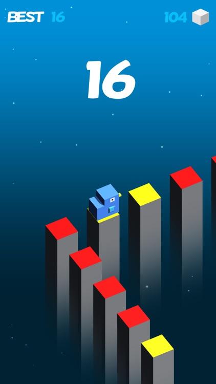 Color Cube Jump Fall Down Games screenshot-3