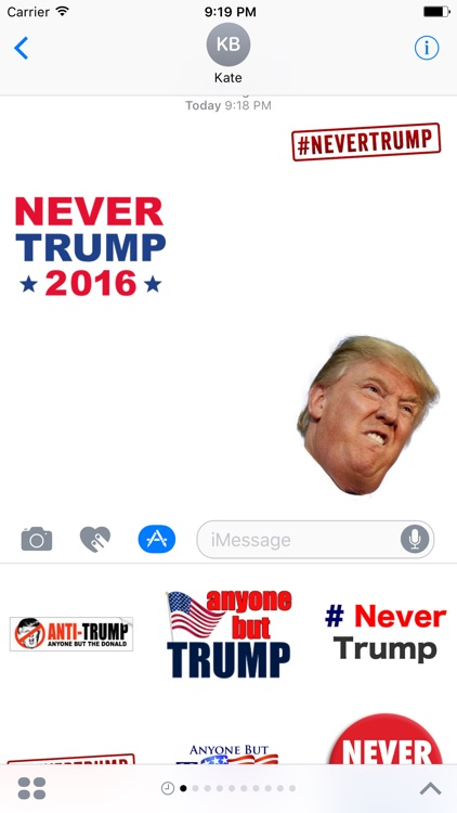 Never Donald Trump for President 2016 Stickers screenshot-0