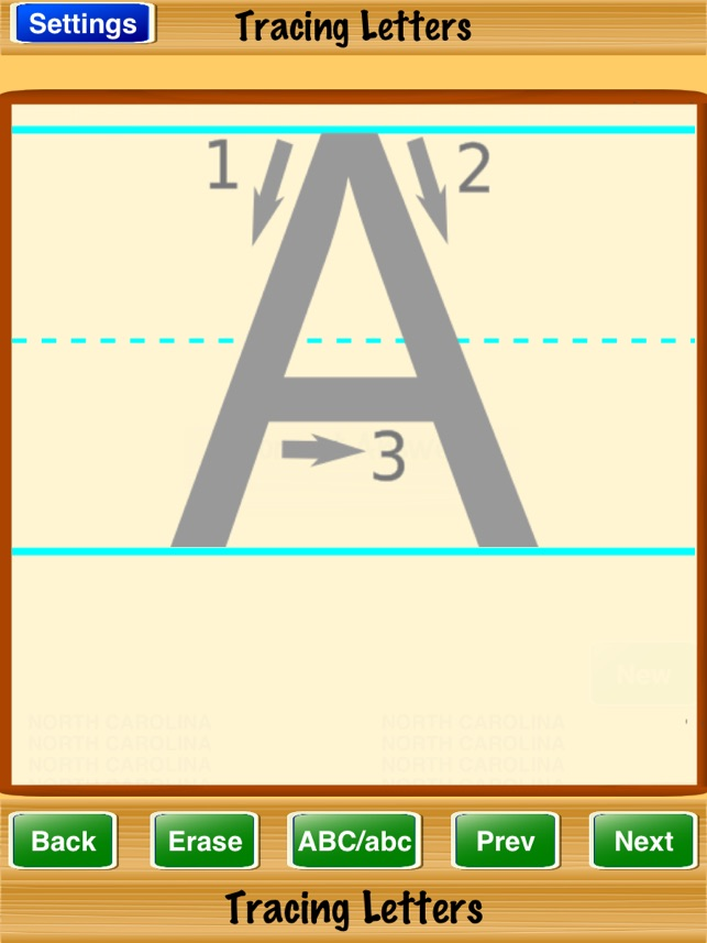 tracing letters on the app store
