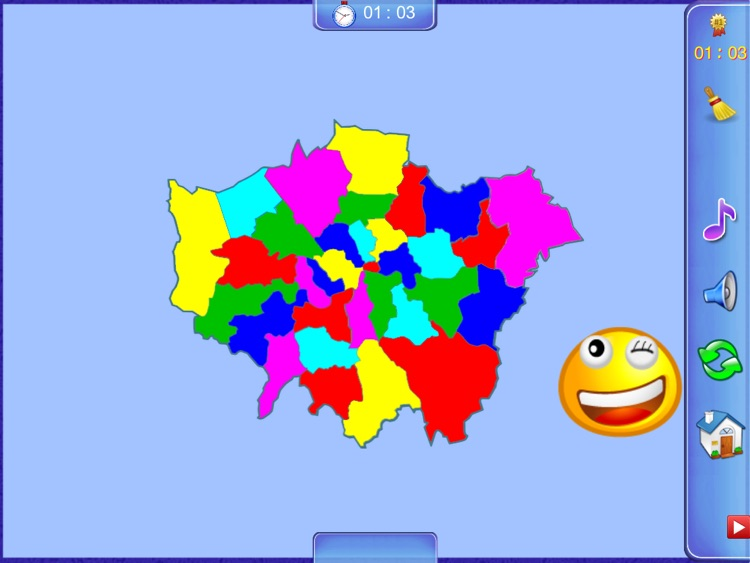 Greater London Puzzle Map