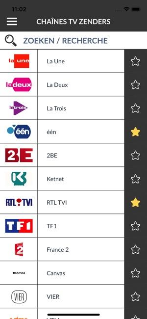 programme tele belge