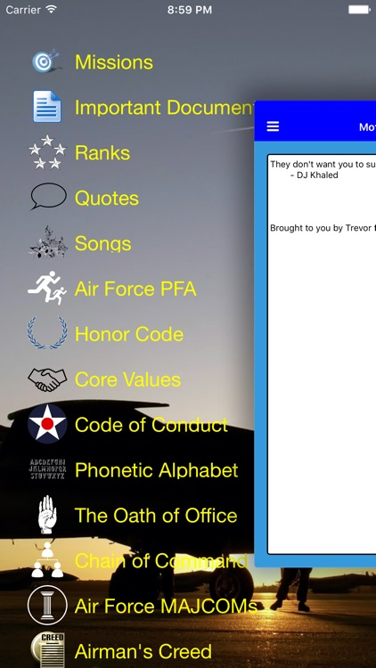 Air Force Warrior Knowledge screenshot-0
