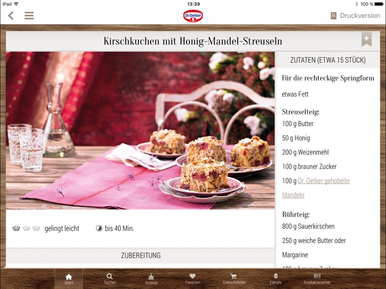 Dr. Oetker Rezeptideen - Tablet Version screenshot-2