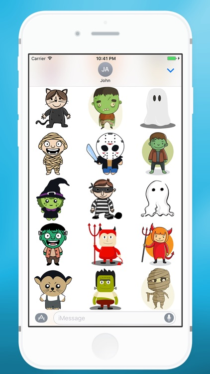 Halloween Monsters Sticker for iMessage