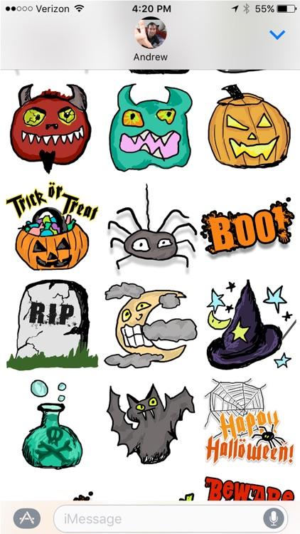 Halloween Sketches Sticker Pack screenshot-4