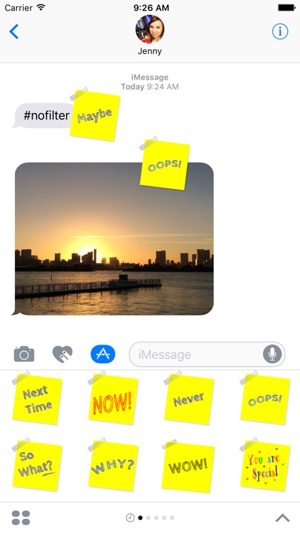 Sticky Notes for iMessage