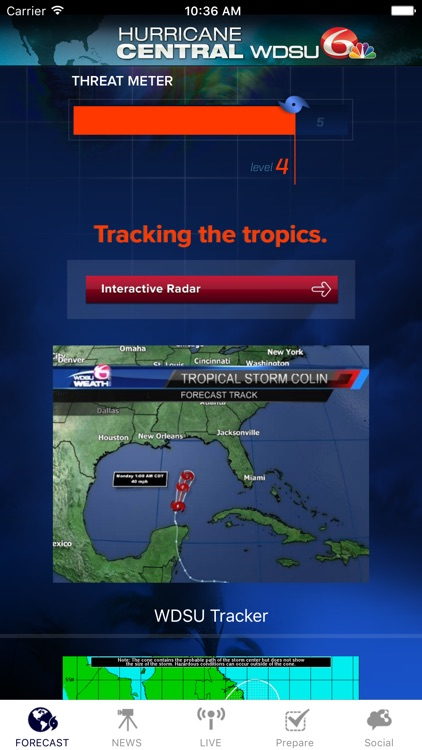 Hurricane Central WDSU New Orleans, Louisiana screenshot-0