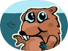 Awesome stickers about beaver