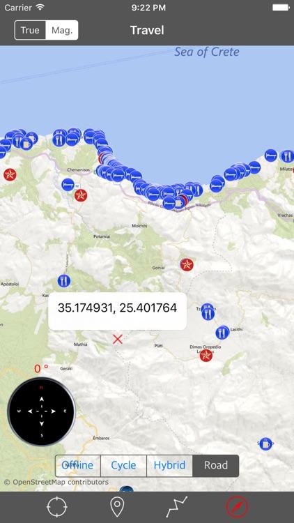 CRETE (GREECE) – GPS Travel Map Offline Navigator screenshot-4