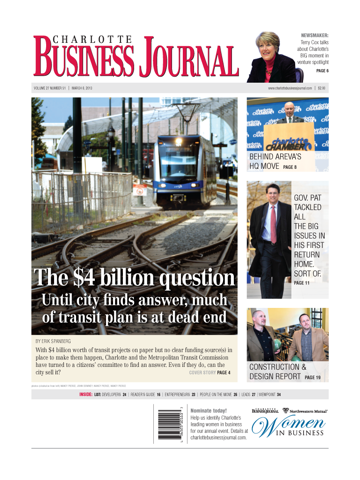 Screenshot of Charlotte Business Journal