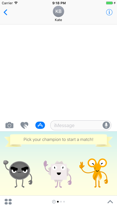 Rock-Paper-Scissors: Game for iMessage screenshot one