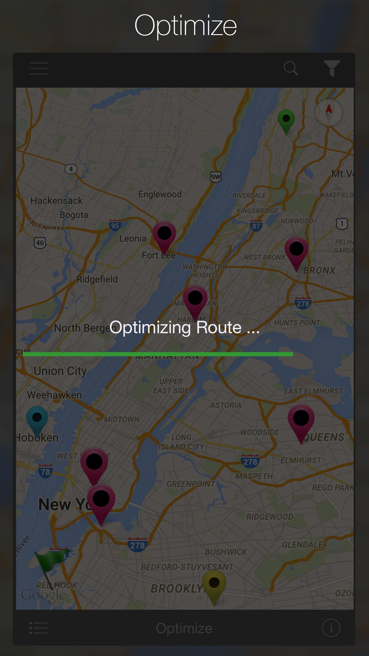 Road Warrior Route Planner Screenshot