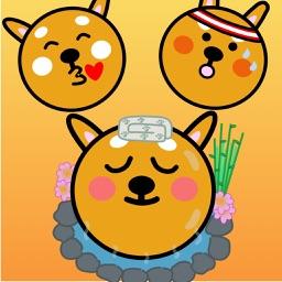 Kumakote the doge: a cute pet stickers