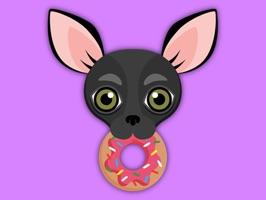 Animated Black Chihuahua