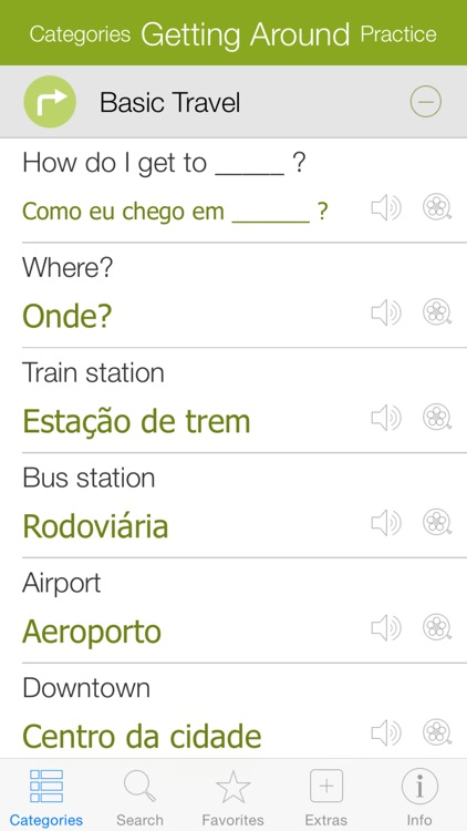 Portuguese Video Dictionary - Learn and Speak with Video Phrasebook