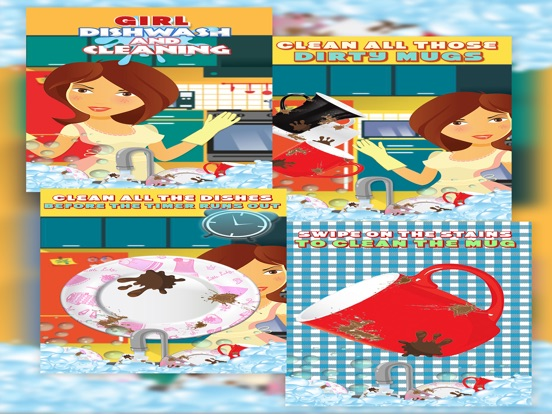 Girls Dish Wash And Cleaning-ipad-4