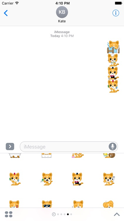 Cat Stickers Pack for iMessage