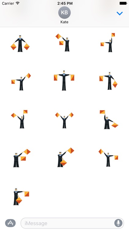 Semaphore Stickers