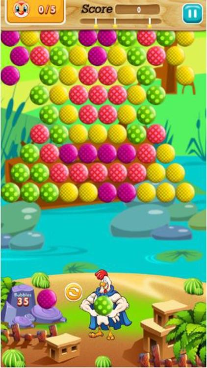 Chicken Bubble Shooter Farm : Chicken hero screenshot-3