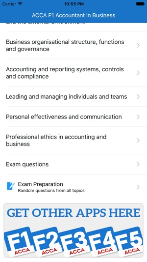 ACCA F1 Test preparation on the App Store
