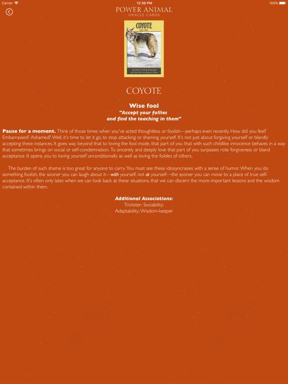 Power Animal Oracle Cards screenshot 10
