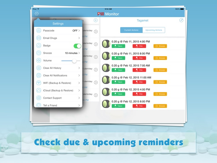 Pill Monitor for iPad - Medication Reminder & Log screenshot-4