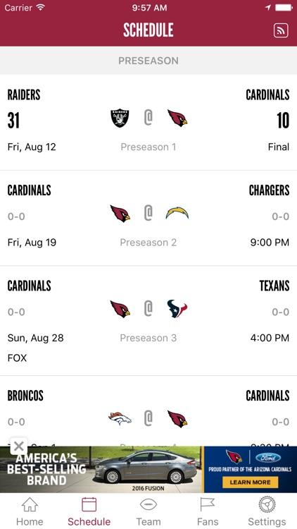 Arizona Cardinals Mobile screenshot-3