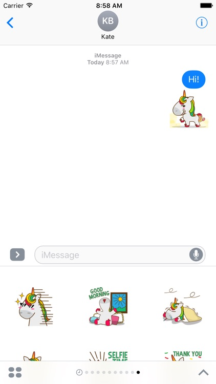 Unicorn Sweet And Cute Sticker For iMessages screenshot-3