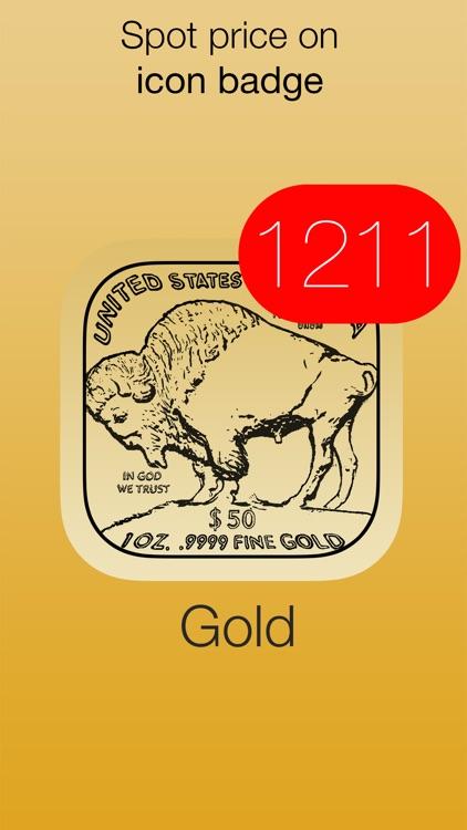 Gold Price - with badge value, widget & watch app screenshot-3