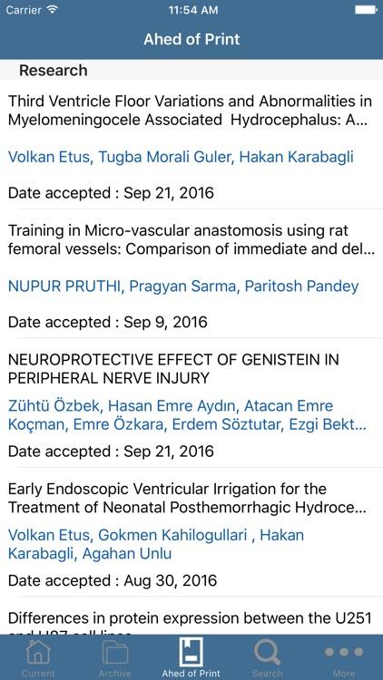 Turkish Neurosurgery screenshot-3