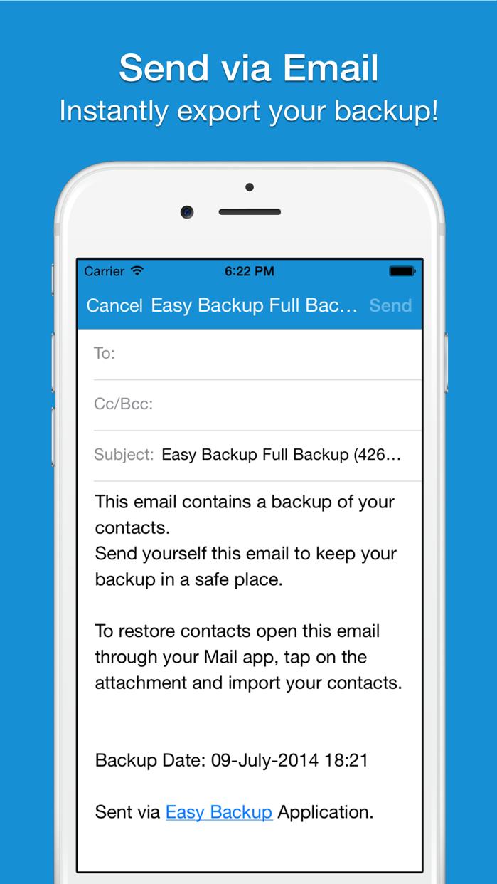 Easy Backup . Screenshot
