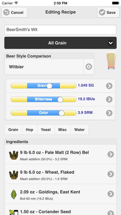 Beersmith mobile home brewing by beersmith llc for Brewery design software