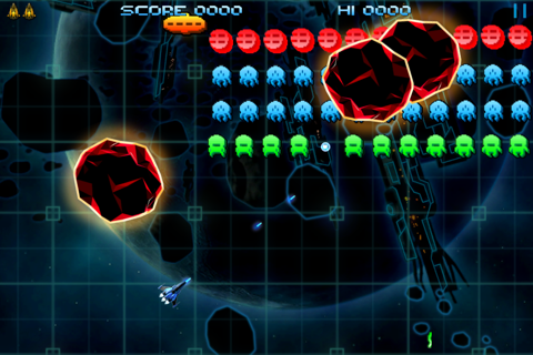 Retro Dust - Classic Arcade Asteroids Vs Invaders screenshot 1