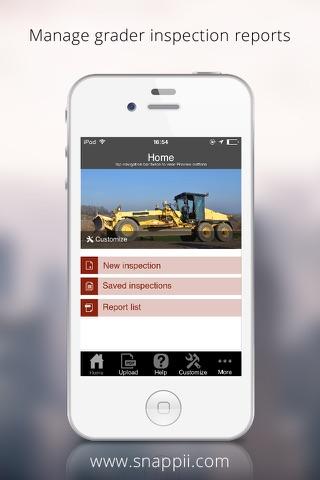 Grader Inspection App - náhled