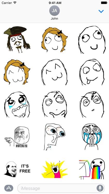 Rage Meme Stickers