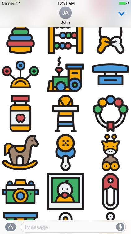 Baby Stickers - Great Emoji 's for Parents