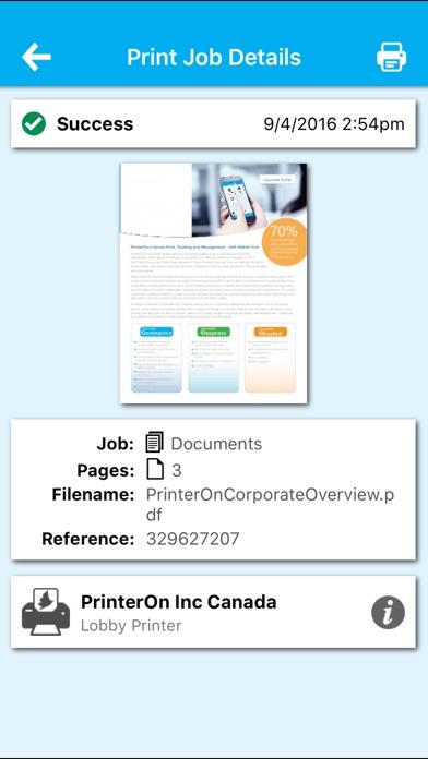 PrinterOn for Citrix Скриншоты7