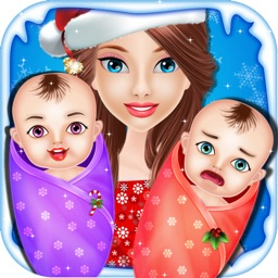 Christmas Twins NewBorn Baby Care - kids game