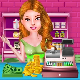 Baby Shop Store & Cash Register - Supermarket shopping girl top free time management grocery shop games for girls