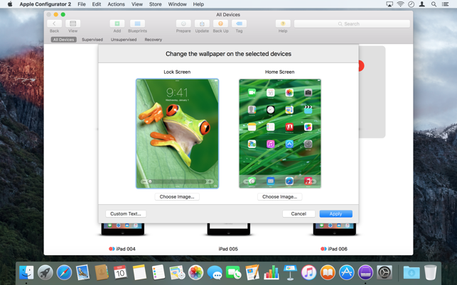 Apple configurator 2 on the mac app store malvernweather Images