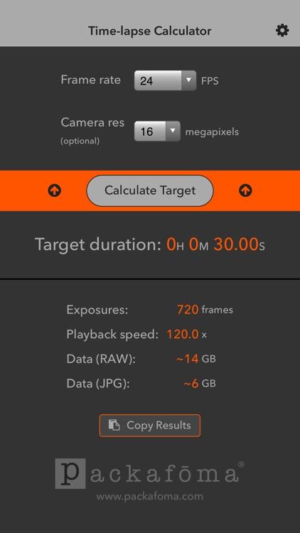 Time-lapse Calculator screenshot-3
