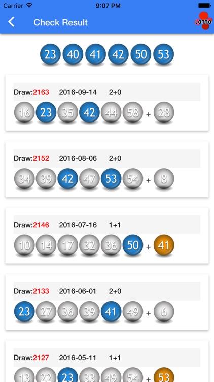 UK Lotto Thunderball 49 EuroMillions Health screenshot-3