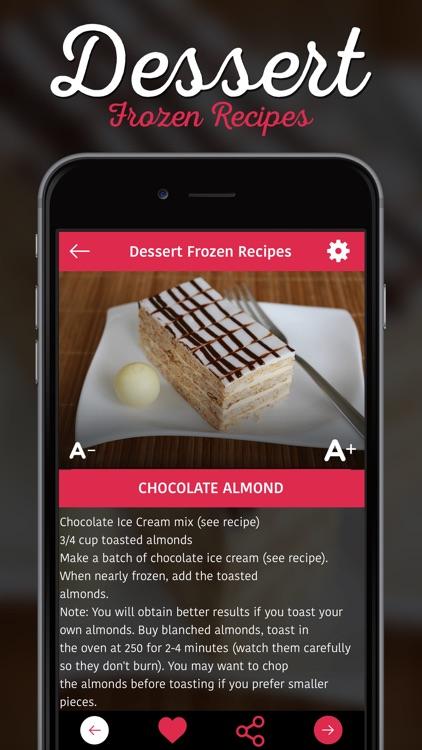 Dessert Frozen Recipes screenshot-3