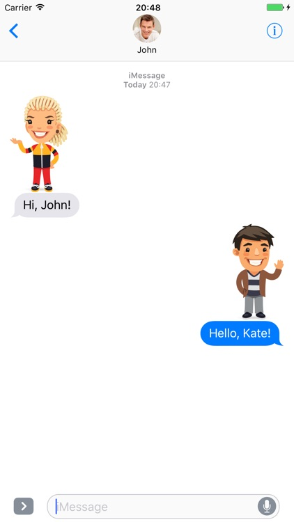 Cartoon people - Stickers for iMessage